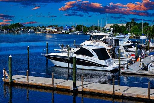 Boats, Pier, Marina, Dock, Florida, Gulf, Yachts, Sea