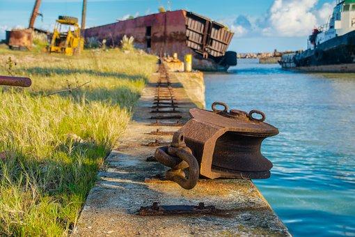 Pier, Boat, Sea, Ocean, Shipwreck, Water, Nature