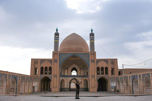 Mosque, Monument, Architecture, Kashan, Travel, People