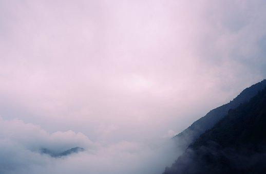 Nature, Mountains, Fog, Sky, Clouds, Outdoors, Hills