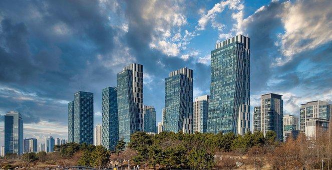 Buildings, Skyscrapers, Urban, Skyline, City