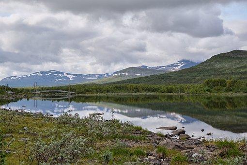 Mountains, Glaciers, Lake, Hiking, Camping, Trekking