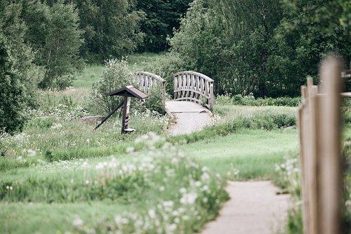 Park, Bridge, Nature, Outdoors, Field, Countryside