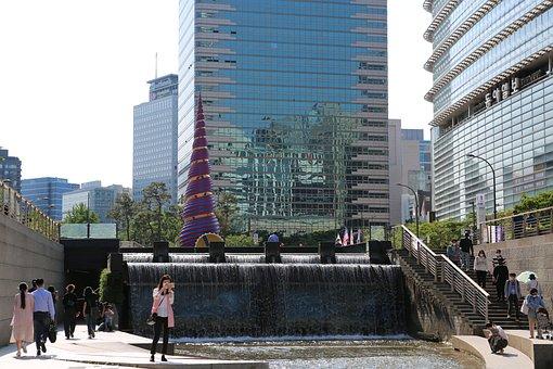 Seoul, Cheonggyecheon, South Korea