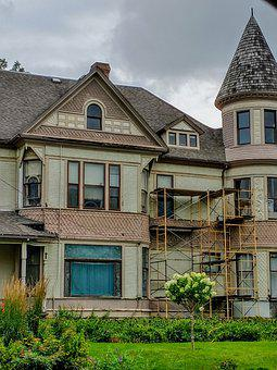 Mansion, House, Building, Residence, Vintage House