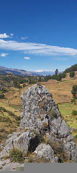 Rocks, Cliff, Field, Trees, Forest, Andes, Cusco