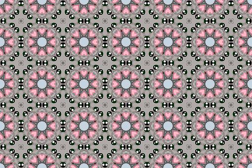 Flower, Wall, Floral, Pattern, Retro, Vintage