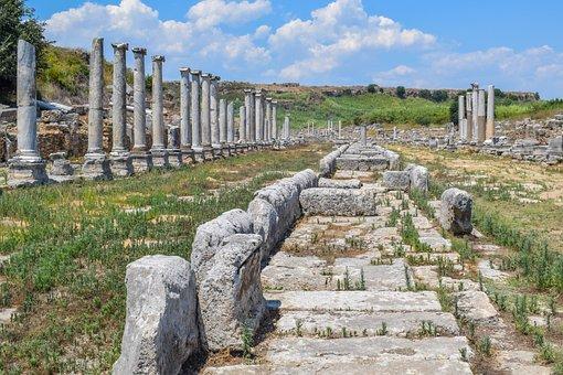 Ruins, Stairs, Columns, Pillars, Tourism, Culture