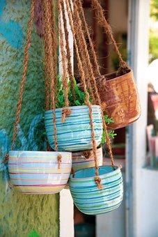 Hanging Pots, Hanging Plants, Ceramic Pots, Decoration