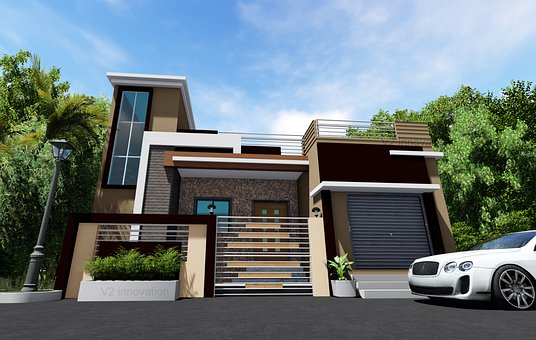 House, Facade, Architecture, Building, Modern House