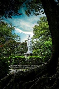 Statue, Sculpture, Park, Art, Church, Statue Of Mary