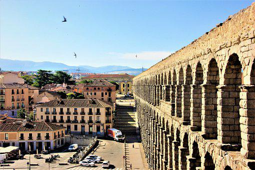 Aqueduct, Segovia, City, Spain, Wall, Structure