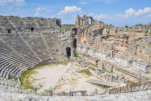 Ruins, Theater, Colliseum, Tourism, Culture