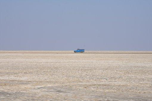 Desert, Road, Kavir National Park, Qom, Iran, Travel