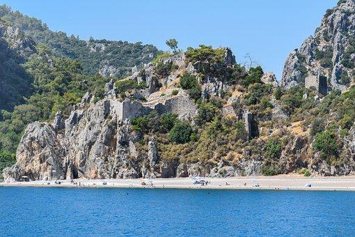 Sea, Boat, Coast, Tourism, Olympos, Turkey, Nature