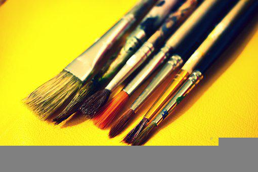 Brushes, Paint, Palette, Watercolor, Tassels, Drawing