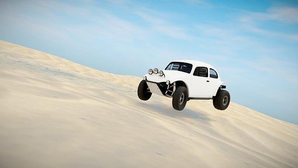 Beetle, Volkswagen, Car, Baja, Stunt, Desert, Sand