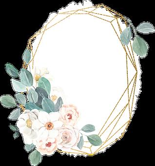 Greeting Card, Floral Frame, Decorative Frame, Flowers