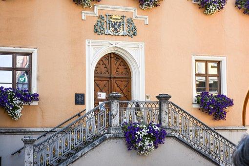 Building, Facade, Stairs, Door, Entrance, Architecture