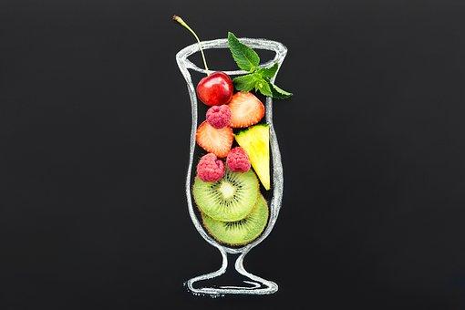 Cocktail, Fruit Cocktail, Fruit, Kiwi, Vitamins