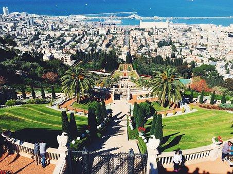 Garden, Bahai, Israel, Architecture, Park, Haifa