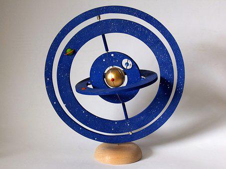 Solar System, Astrolabe, Cosmos, Planet, Wood, Craft