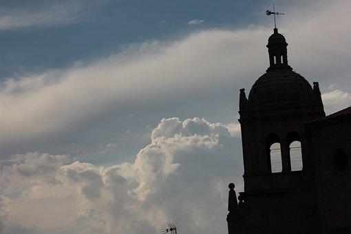 Backlight, Monument, Spain, Salamanca, Church