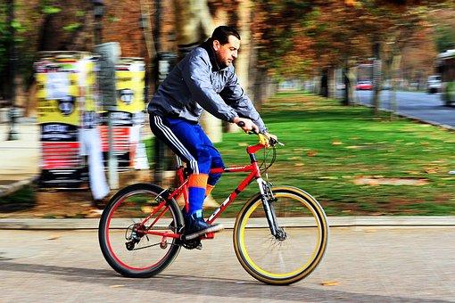 Forest Park, Santiago, Chile, Cyclist, Bike, Bicycles
