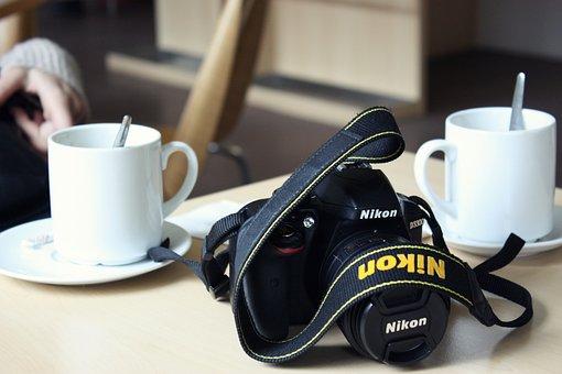 Coffee Shop, Coffee, Camera, Cafe, Cappuccino, Cup