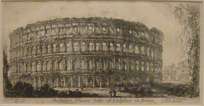 Colosseum, Amphitheater, Flavian, Rome, Piranesi