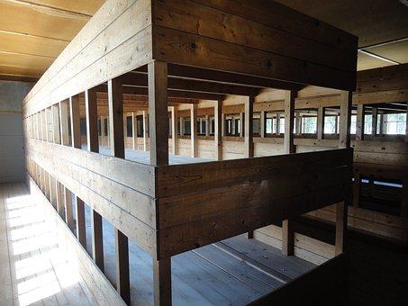 Barracks, Dormitory, Dachau, Konzentrationslager, Crime