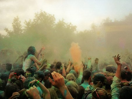 Farbrausch, Holi Solid Colors, Farbpulver, Colour Party