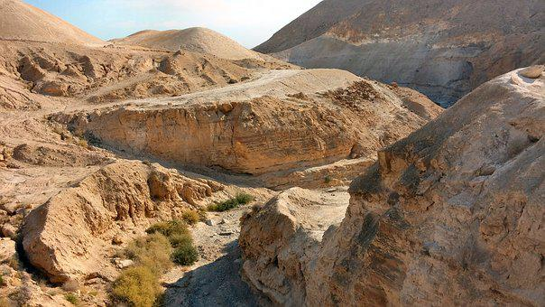 Sand, Desert, Judaean Desert, Israel, Scenery, Riverbed
