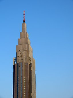 Japan, Tokyo, Tower, Skyscraper, Shinjuku, Blue Sky