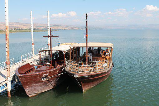 Tiberias, Holy Land, Israel, Boat, Lake Of Galilee