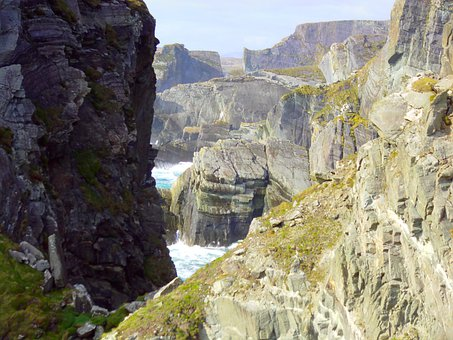 Rocks, Sea, Shoreline, Landscape, Irlanda, Mizen Head