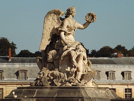 Monument, Versailles, Statue, Garden, Landscapes
