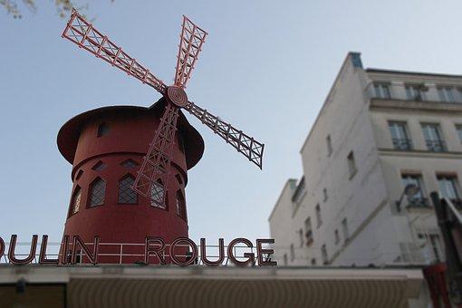 Windmill, Paris, Tourism, France, Landmark, French