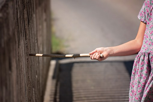 Person, Human, Child, Hand, Floor, Wood Stock, Fence