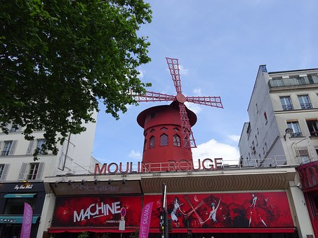 Moulin Rouge, Paris, France, Red Mill