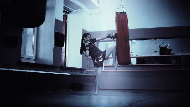 Kickboxer, Girl, Moscow, Thai, Kickboxing