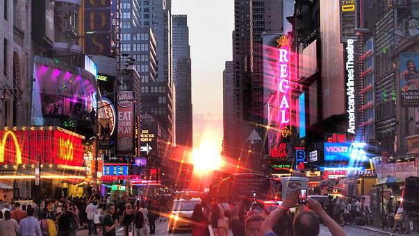 Time Square, New York, Manhattanhenge