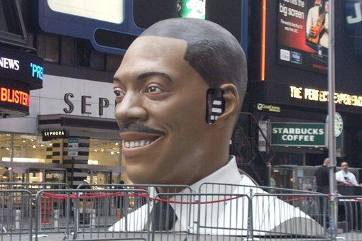 New York, Times Square, Eddie Murphy