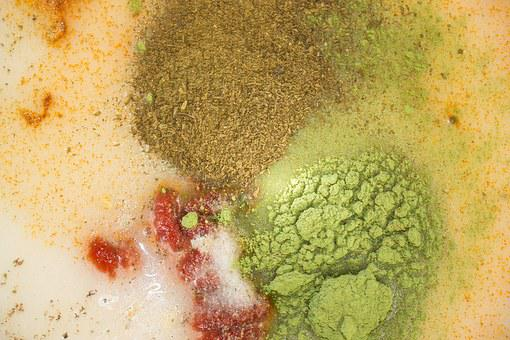 Salad Dressing, Spices, Tomato Paste, Turmeric, Salt