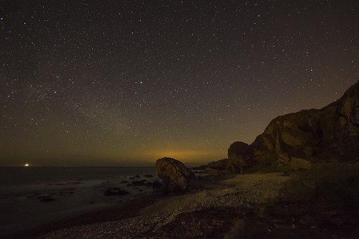 Stars, Milky Way, Rocks, Galaxy, Space, Way, Milky