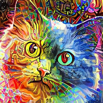 Cat, Tabby Cat, Colorful, Pet, Animal, Mammal, Portrait