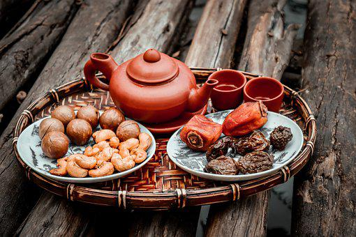 Tea, Nuts, Dates, Food, Dry Nuts, Dry Fruits, Teacup