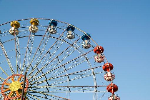 Ferris Wheel, Amusement Park, Ride, Entertainment