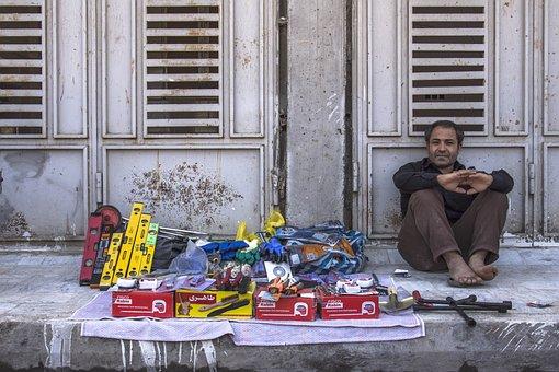 Seller, Street, Qom, Iran, Selling, Man, Life, Outdoors