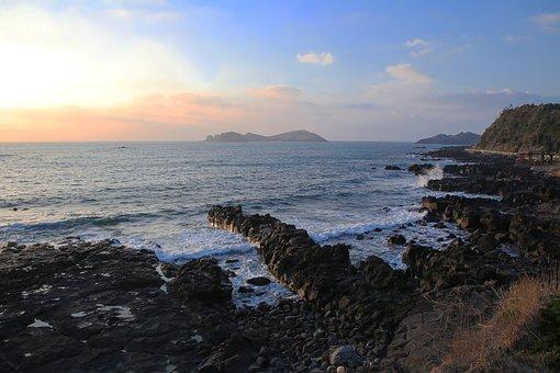Ocean, Coast, Jeju Island, Korea, Island, Scenery
